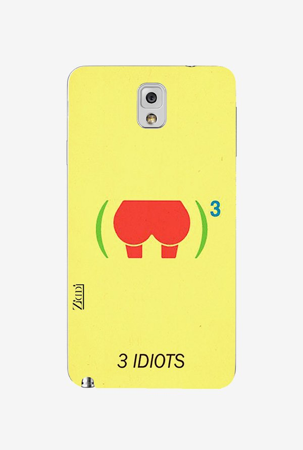 Ziddi 3IDIOTS Hard Back Cover for Galaxy Note 3 (Yellow)