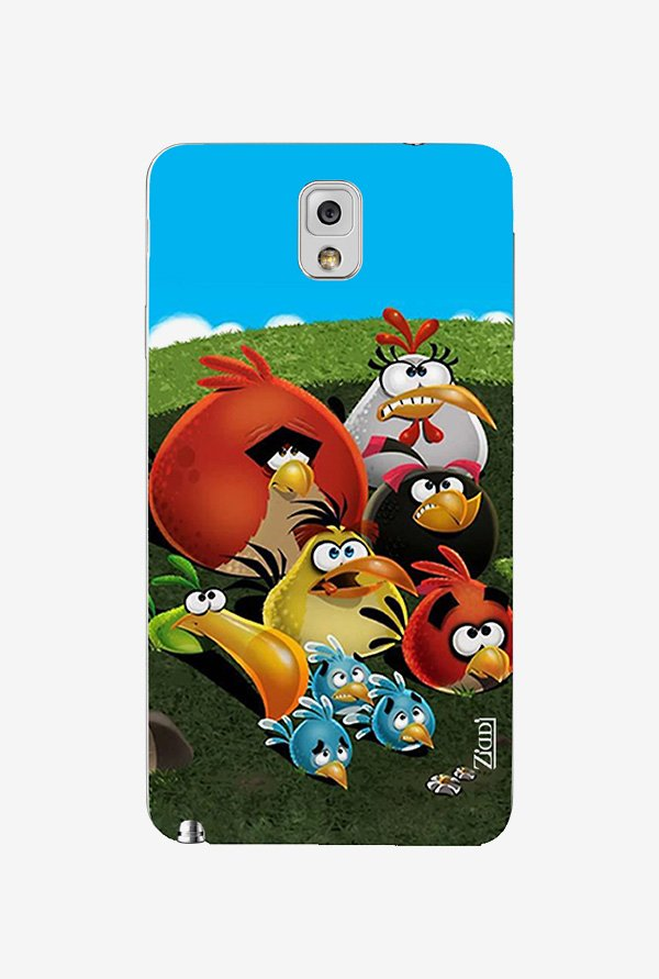 Ziddi ANGRYBIRDS Hard Back Cover for Galaxy Note 3 (Multi)