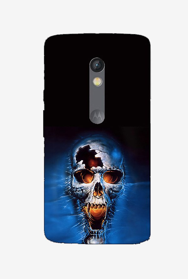 Ziddi ANGRYSKUL Hard Back Cover for Moto X Play (Multi)