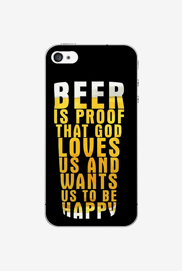 Ziddi BEER Hard Back Cover for iPhone 4 (Multi)