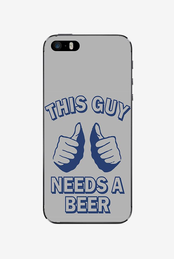 Ziddi BEERQUOT Hard Back Cover for iPhone 5 (Multi)