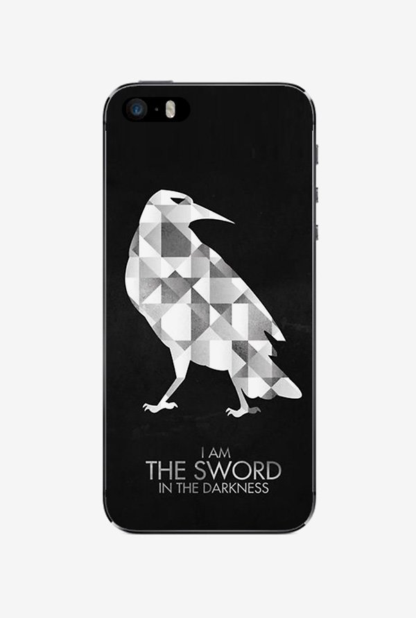 Ziddi BIRDSWORD Hard Back Cover for iPhone 5S (Black)