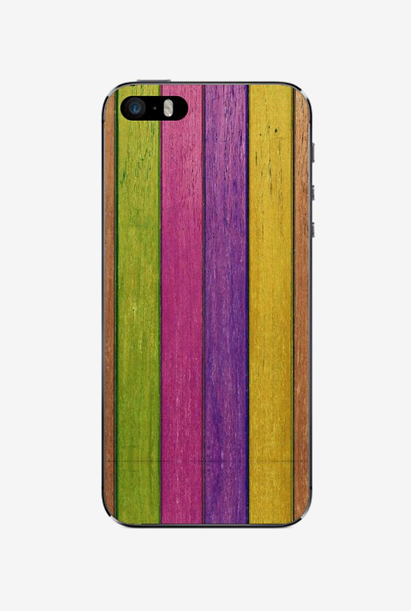 Ziddi CLRSTRIP Hard Back Cover for iPhone 5S (Multi)