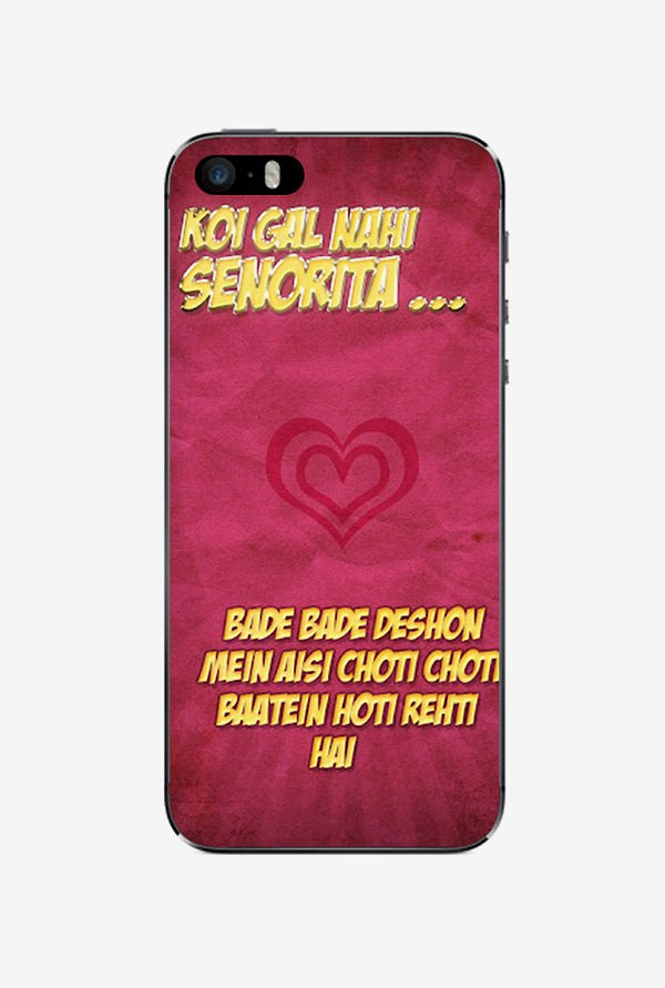 Ziddi DDLJ Hard Back Cover for iPhone 5 (Multi)