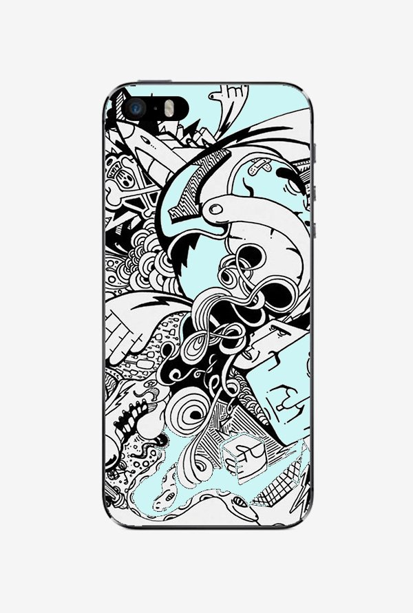 Ziddi BWDESGN Hard Back Cover for iPhone 5S (Multi)