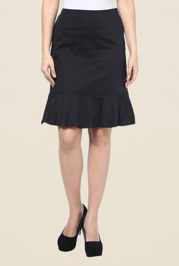 Kaaryah Black Peplum Skirt