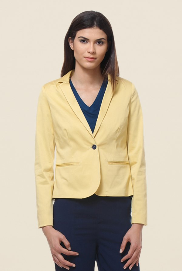 Kaaryah Yellow Full Sleeves Jacket