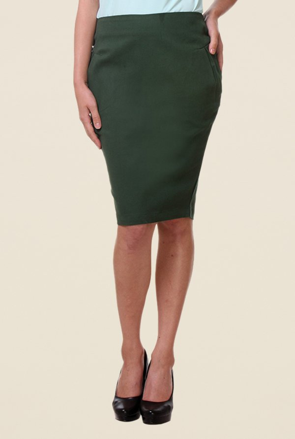 Kaaryah Green Pencil Skirt