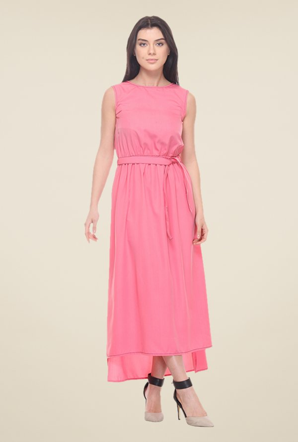 Kaaryah Pink Sleeveless Dress