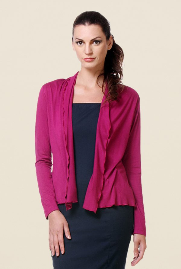 Kaaryah Pink Full Sleeves Shrug