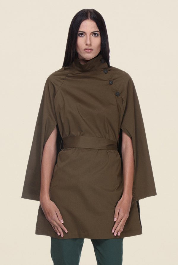 Kaaryah Olive Full Sleeves Jacket