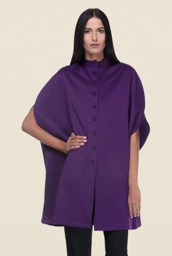 Kaaryah Purple Full Sleeves Regular Fit Jacket