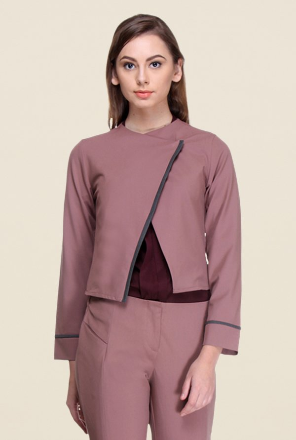 Kaaryah Pink Full Sleeves Jacket