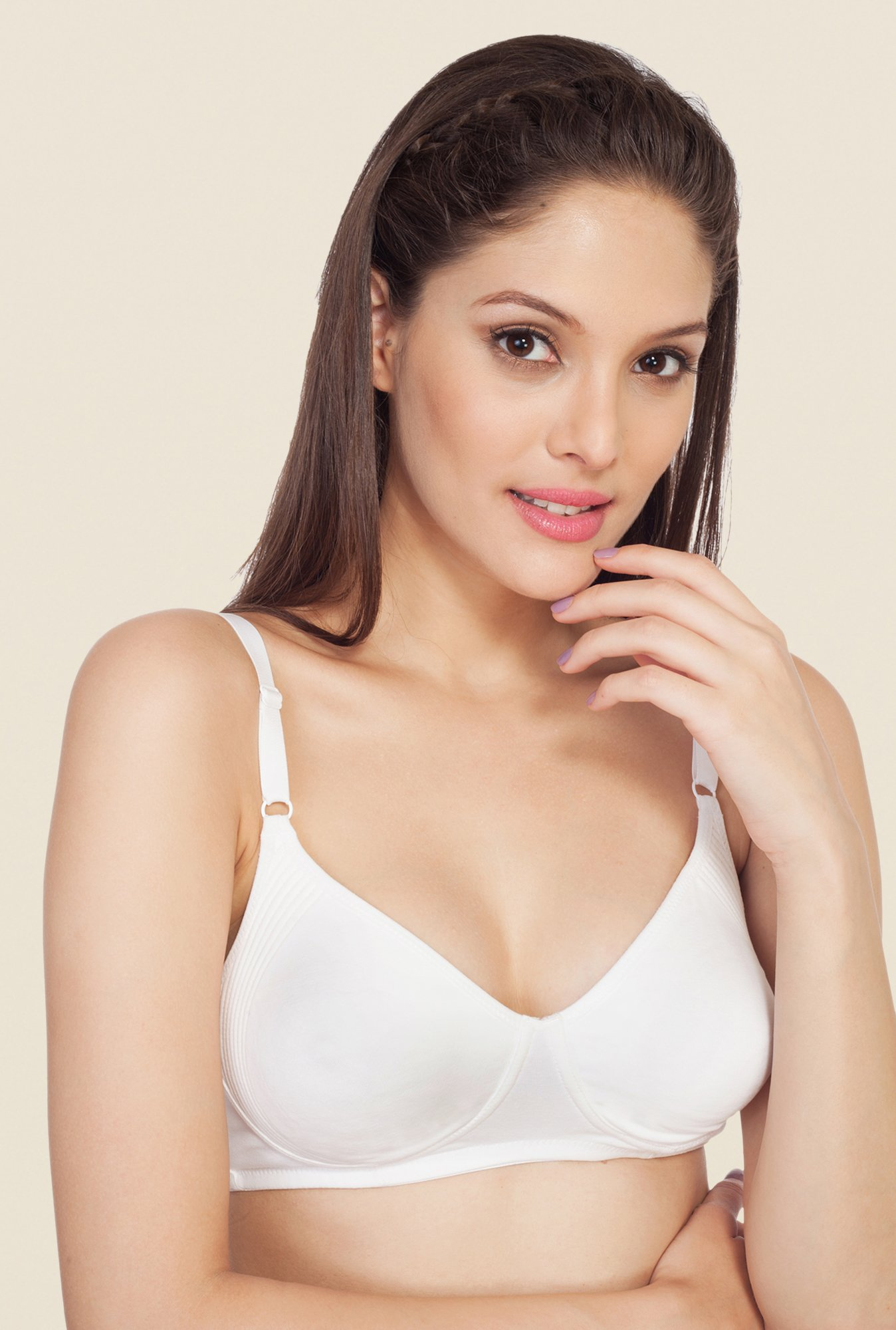 Soie White Demi Cup Non Wired Non Padded Bra