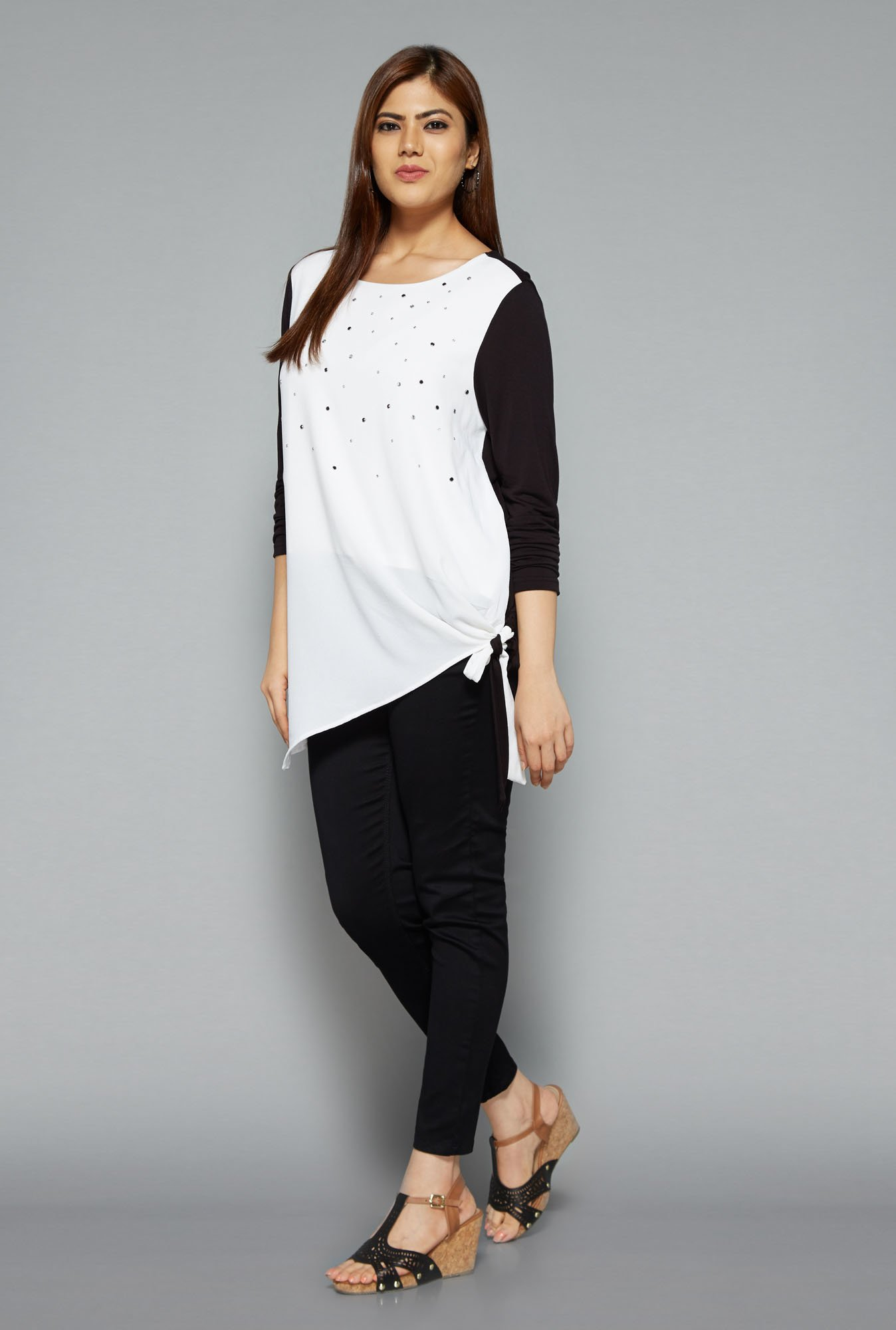Gia by Westside White Embellished Blouse