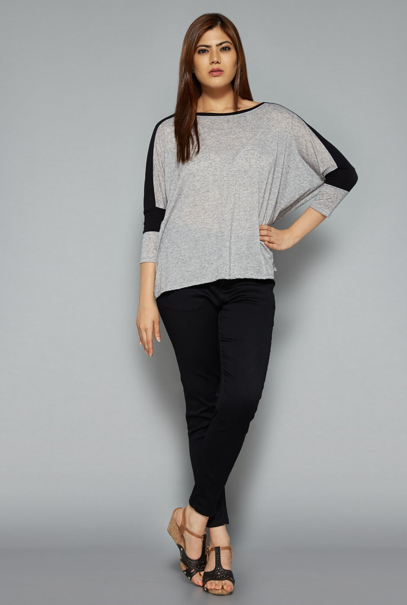 Gia by Westside Grey Lara Top