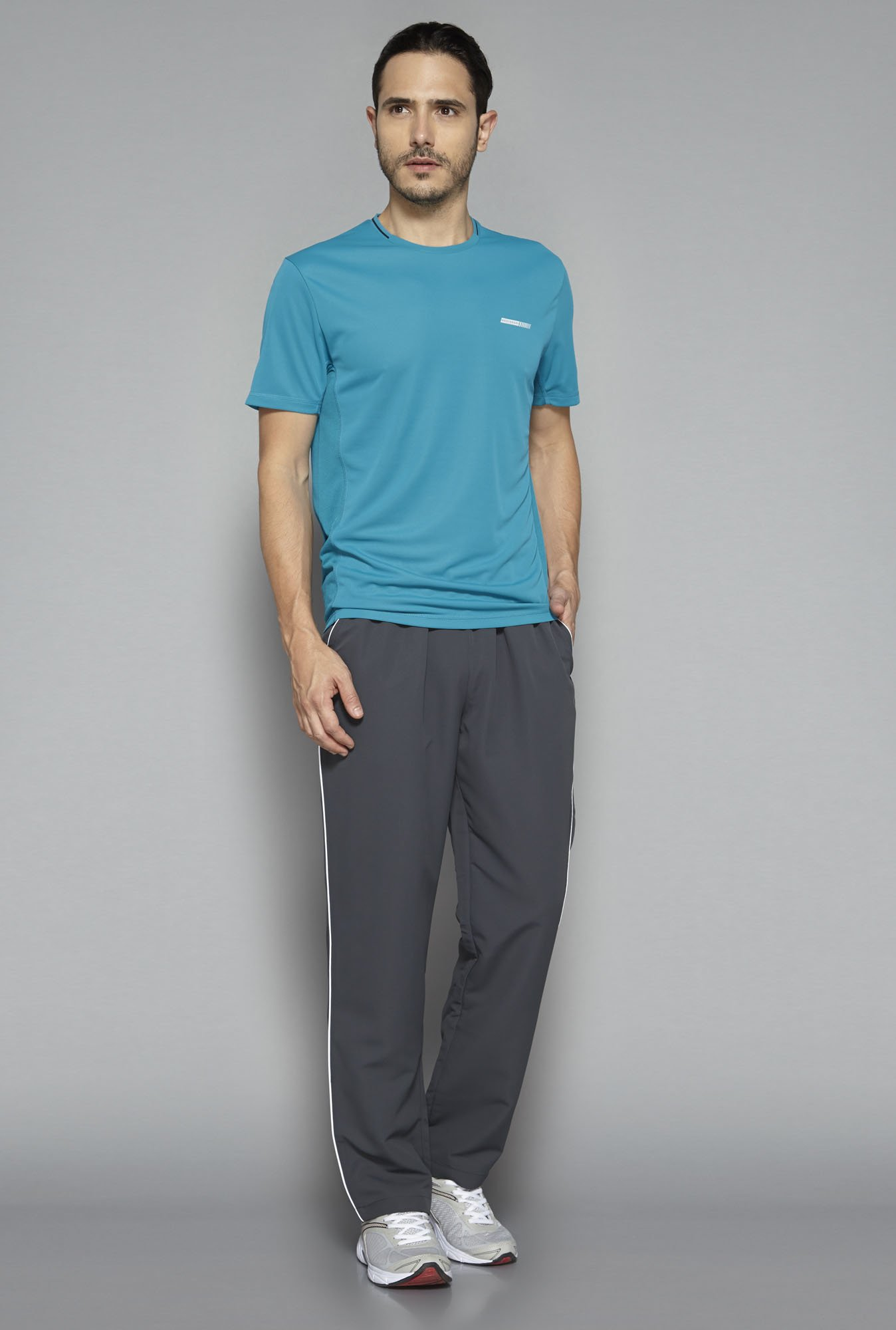 Westsport by Westside Grey Solid Track Pant