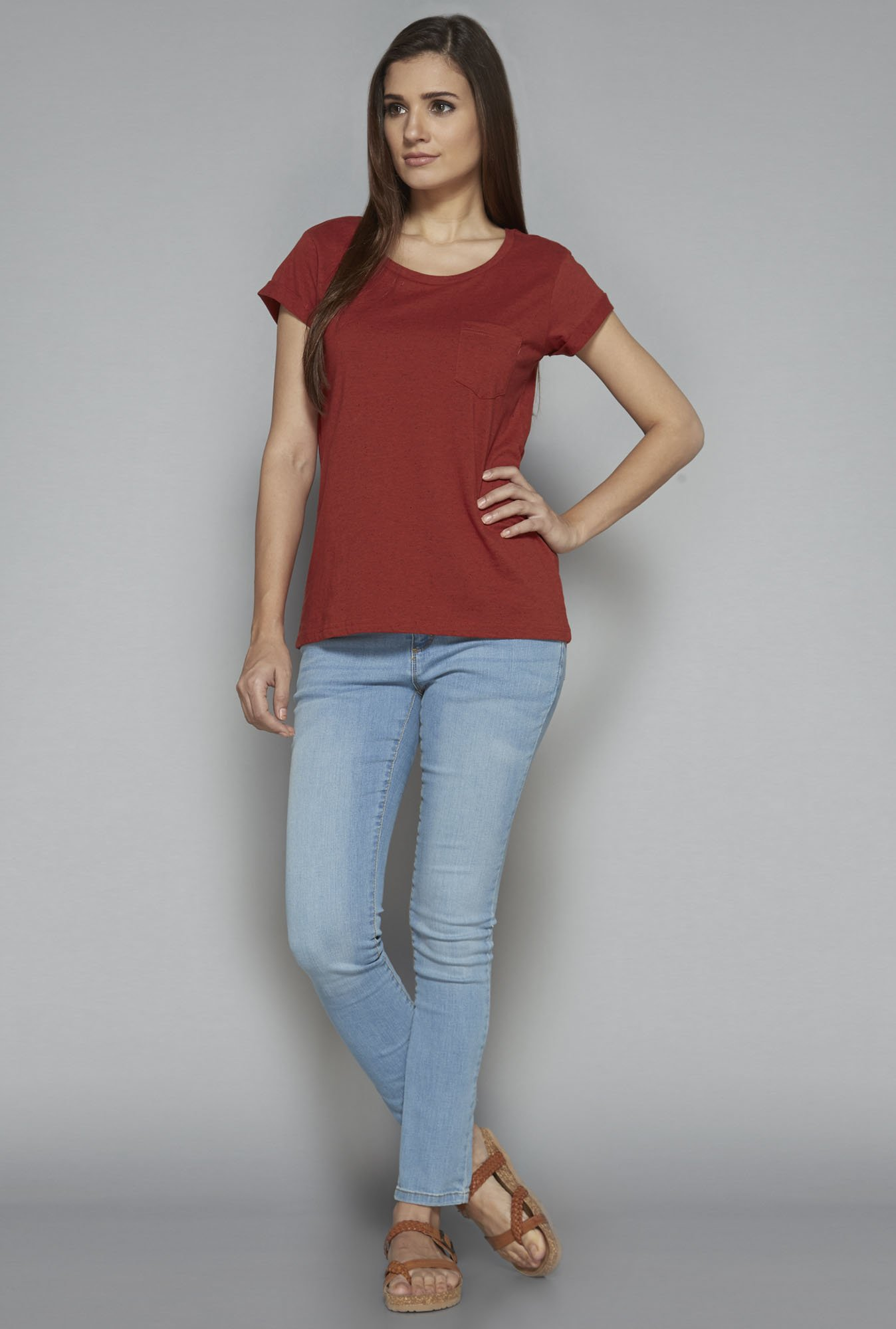LOV by Westside Rust Penelope Top