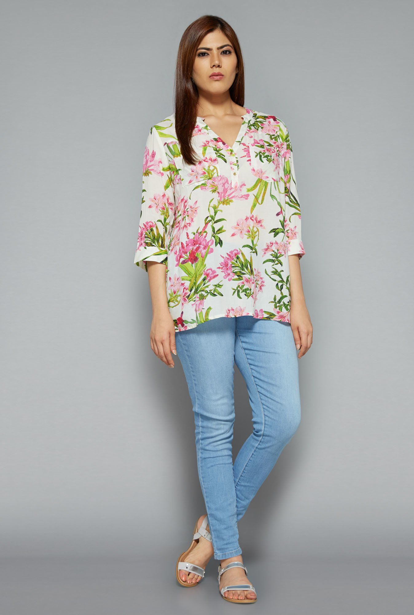 Gia by Westside White Debs Blouse