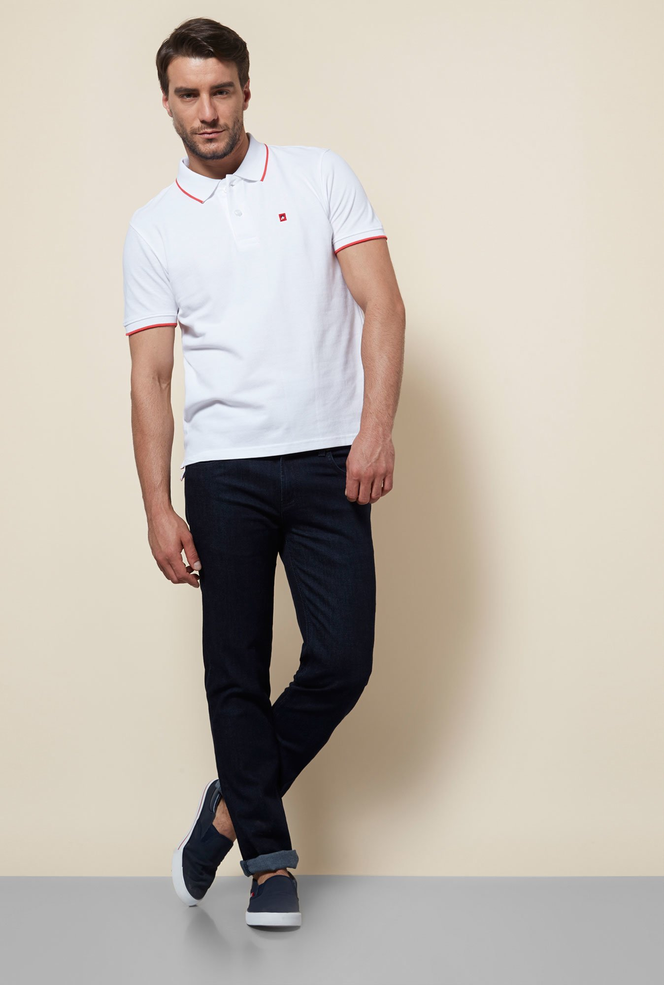 Provogue White Polo T Shirt