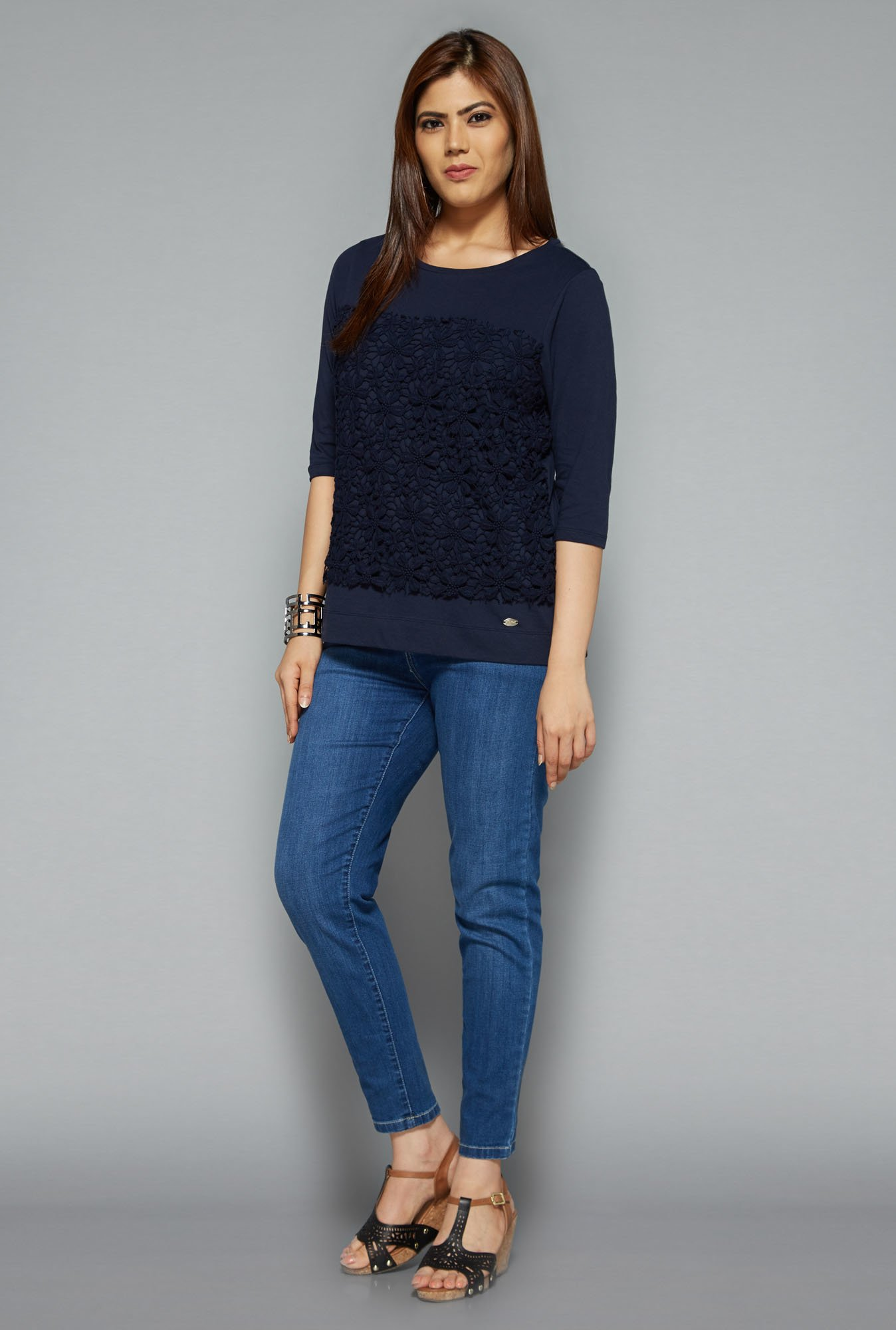 Gia by Westside Navy Finet Top