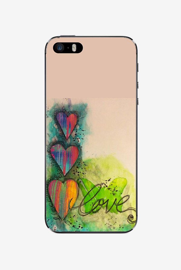 Ziddi LUVPAINT Hard Back Cover for iPhone 5 (Multi)