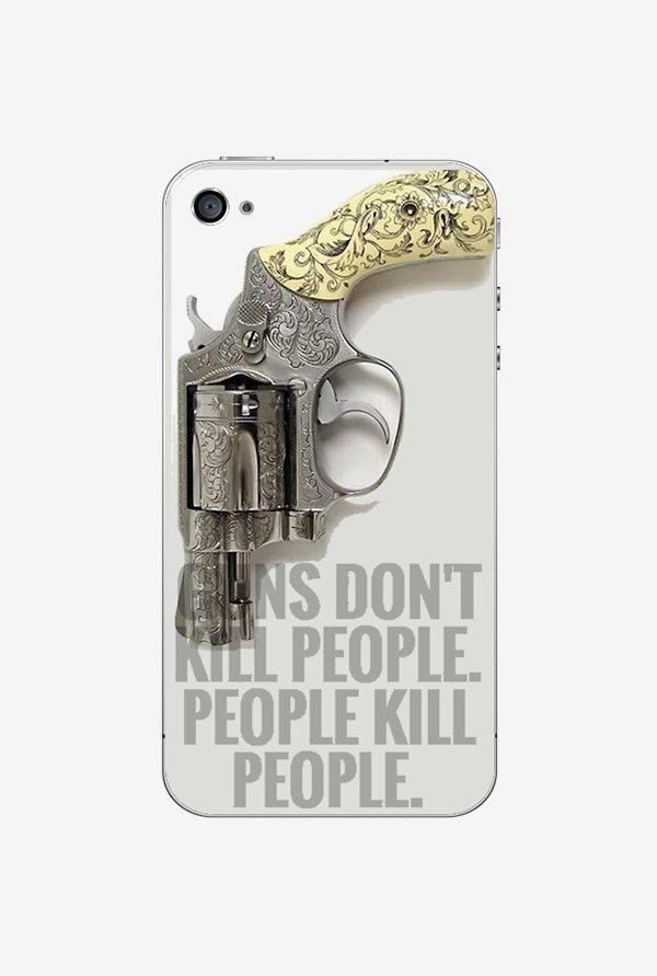 Ziddi GUN Hard Back Cover for iPhone 4S (Multi)