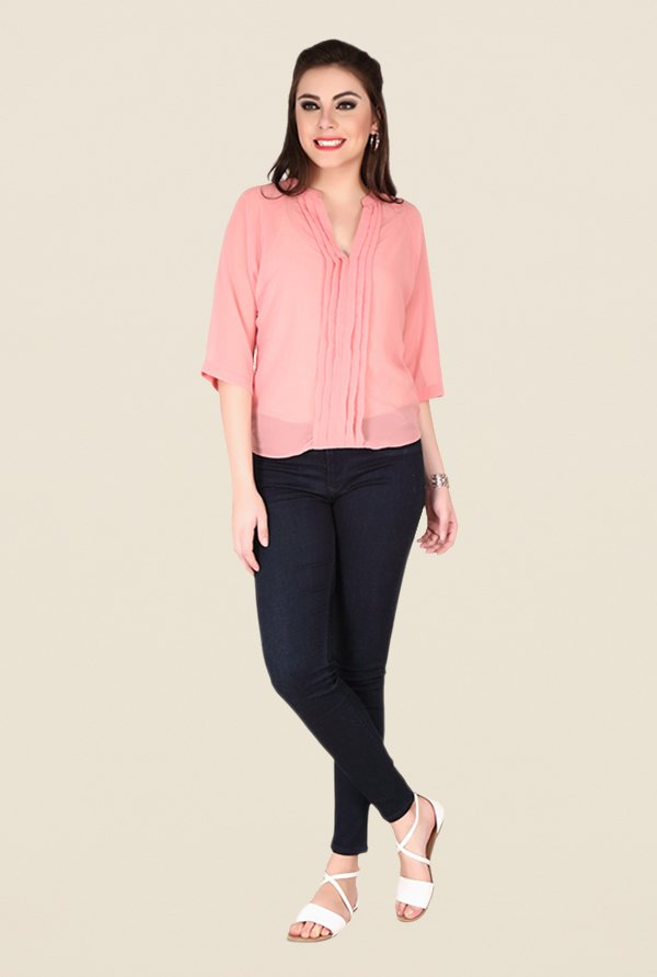 Soie Rose Pink Solid Top