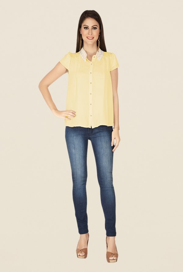 Soie Yellow Solid Top
