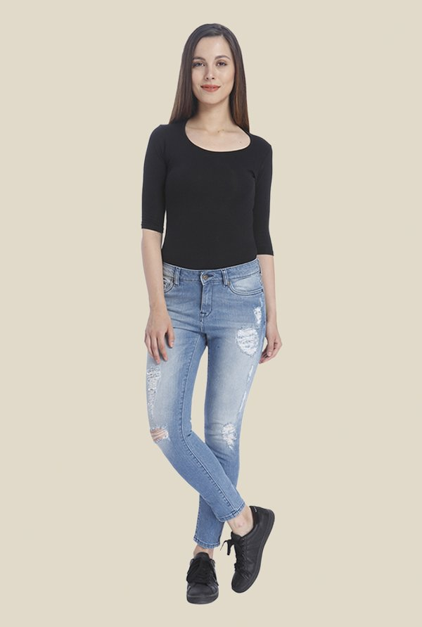 Vero Moda Blue Distressed Jeans