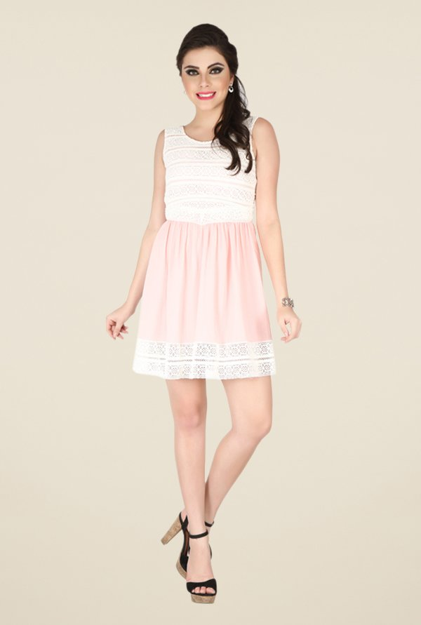 Soie Pink Lace Dress