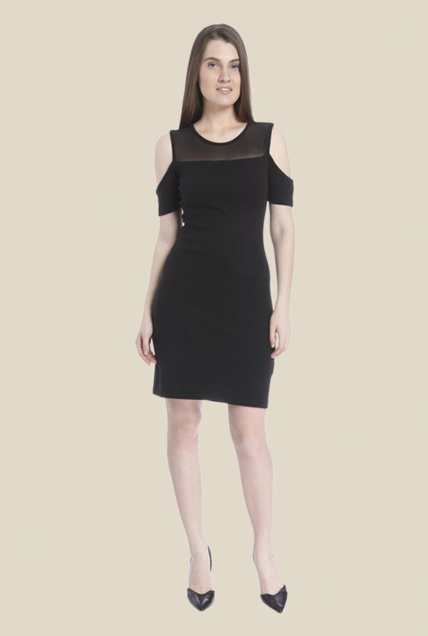 Vero Moda Black Solid Dress