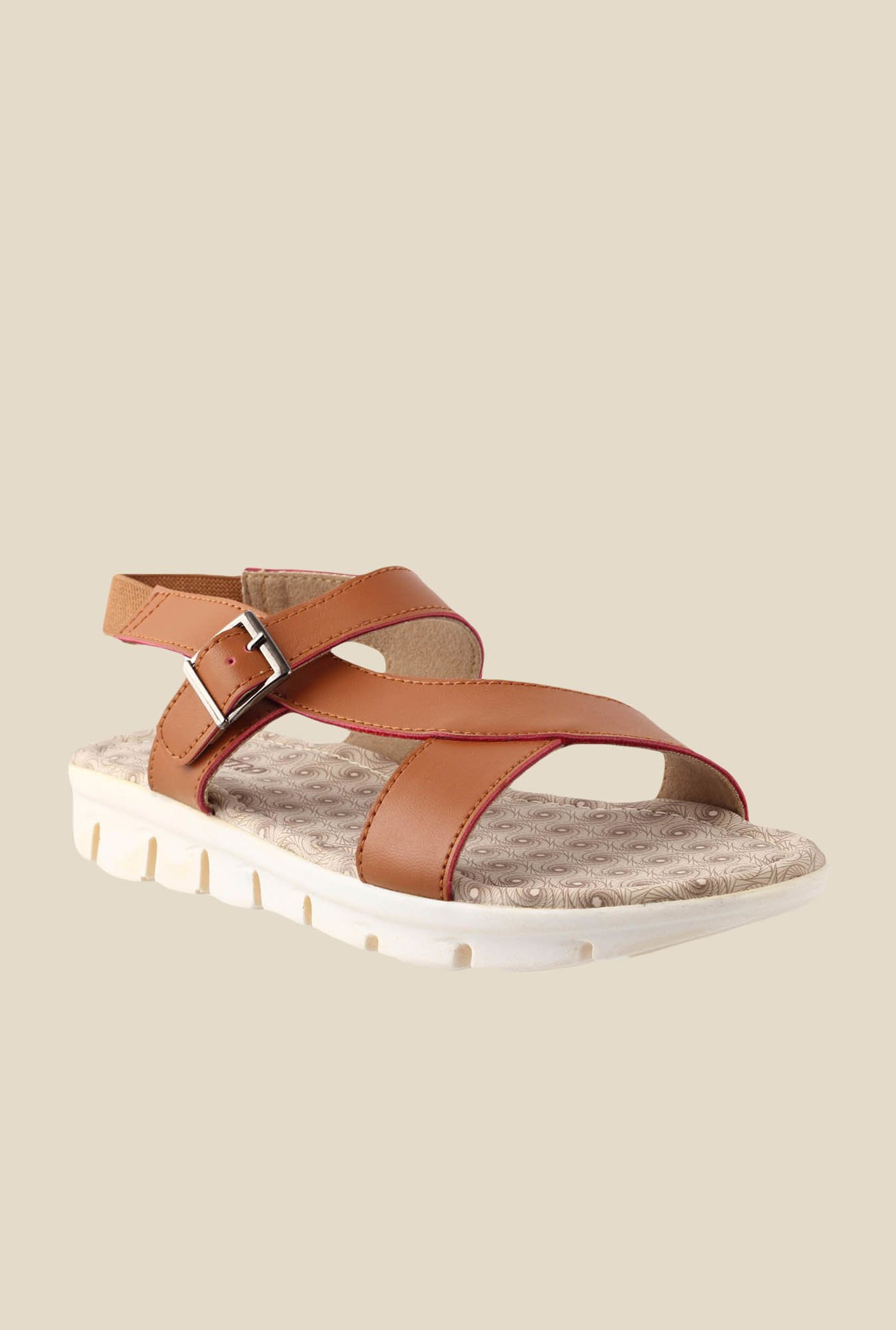 Metro Tan Ankle Strap Sandals