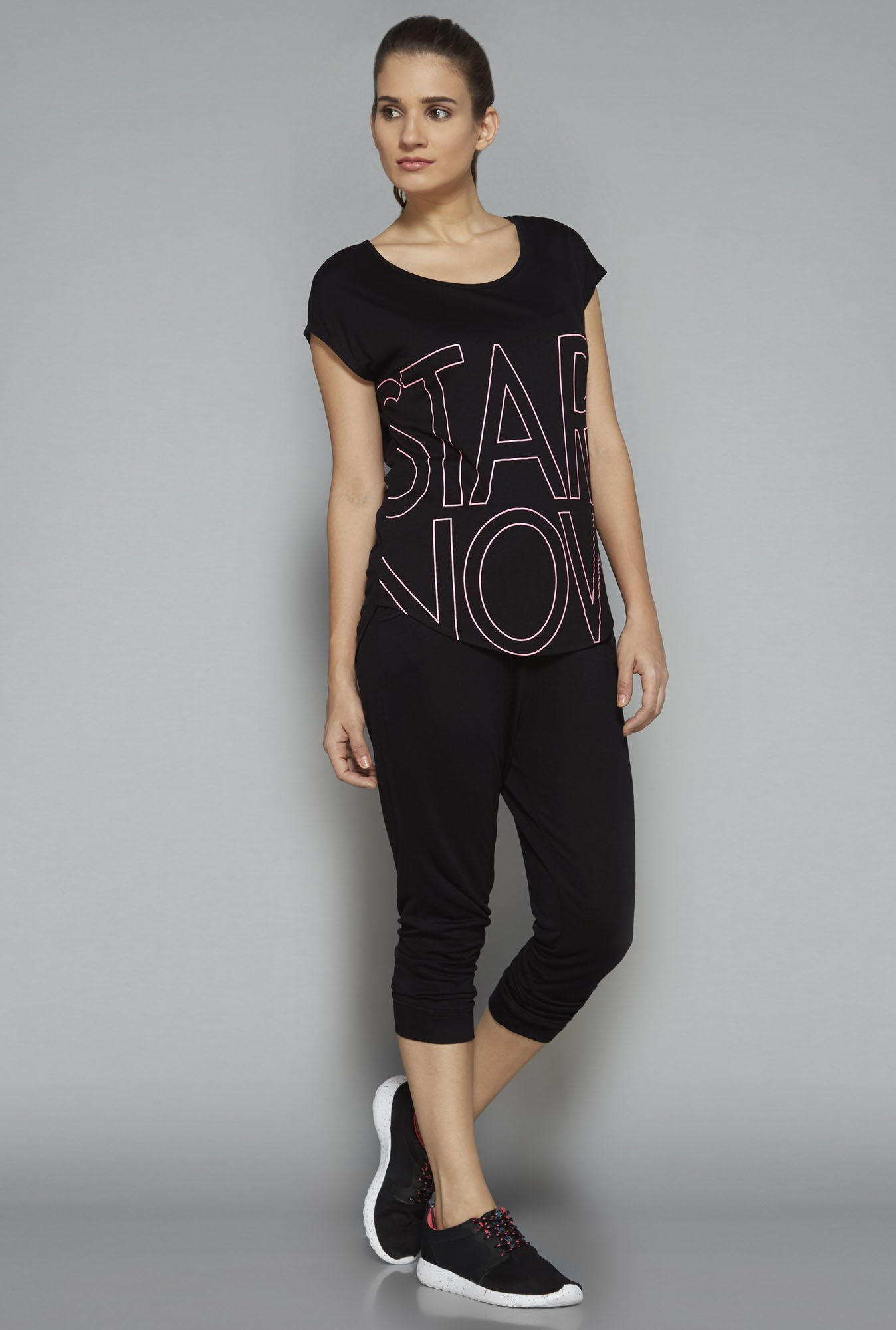 Westsport by Westside Black Printed T-Shirt