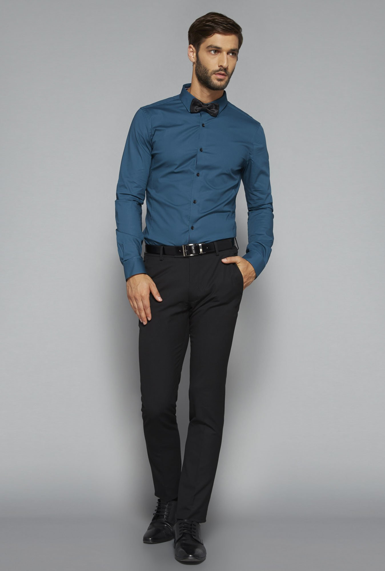 Weststreet by Westside Teal Solid Shirt