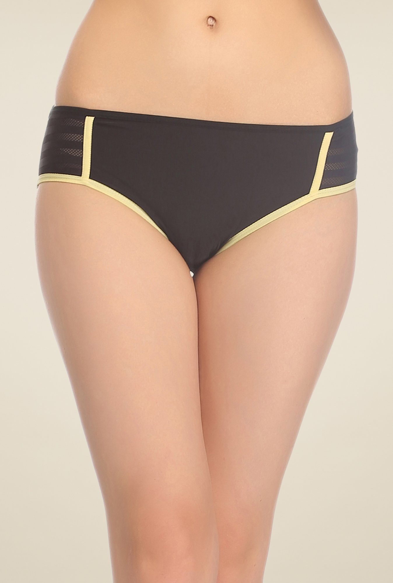 Clovia Black Striped Hipster Panty