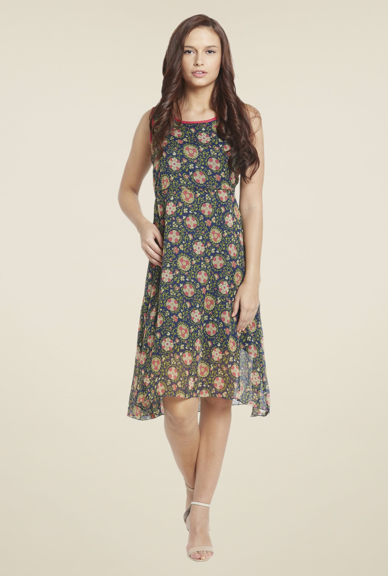 Globus Multicolor Floral Print Dress