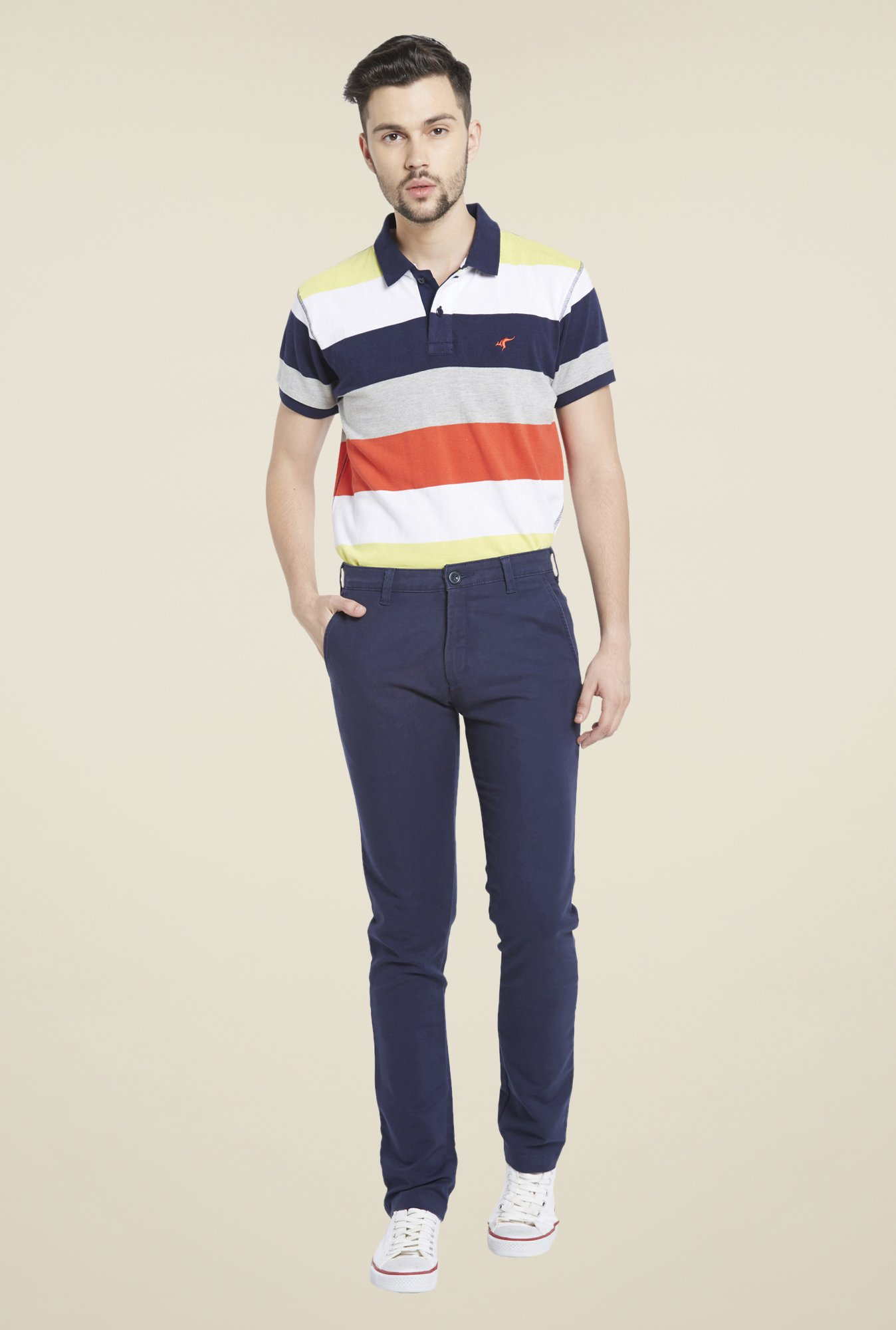 Globus Navy Cotton Chinos