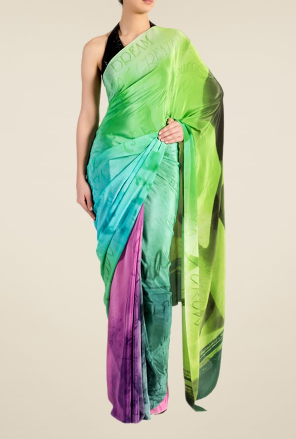 Satya Paul Sea Green Georgette Saree