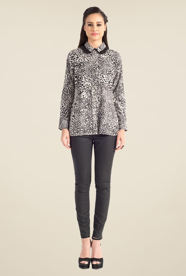 Satya Paul Black Printed Shirt - Club SP
