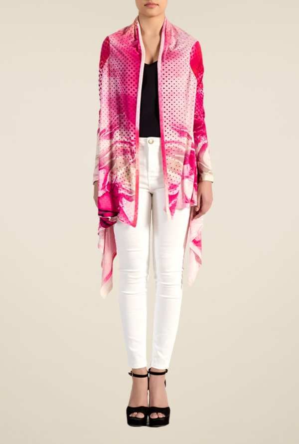 Satya Paul Pink Knit Shrug