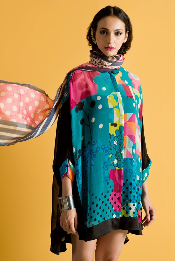 Satya Paul Blue Printed Shirt