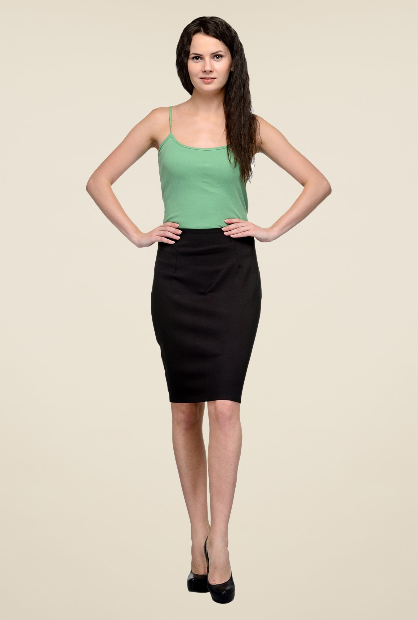 United Colors of Benetton Black Pencil Skirt