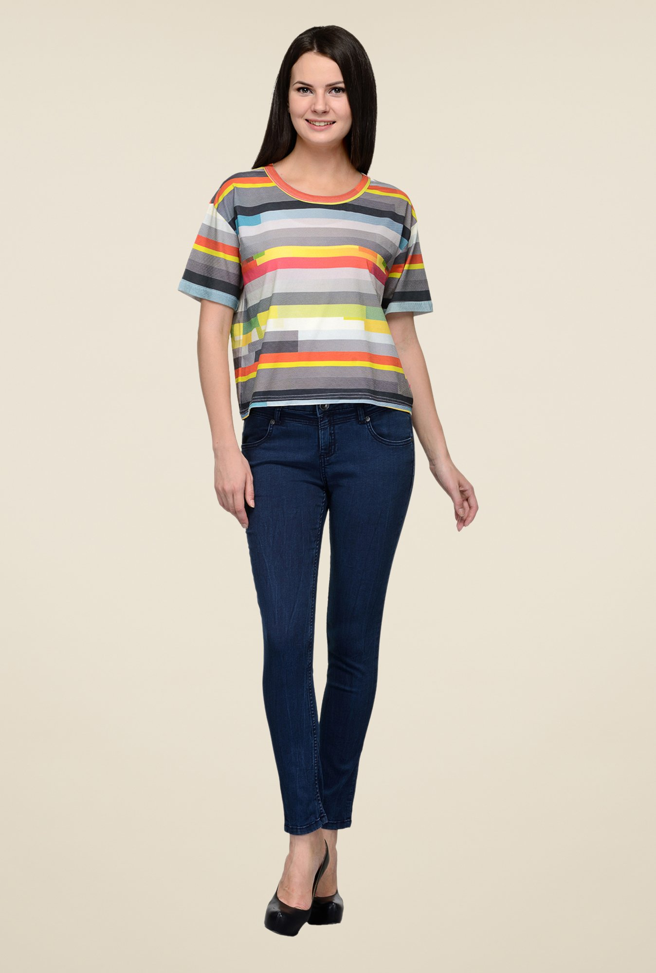 United Colors of Benetton Multicolor Striped T-shirt