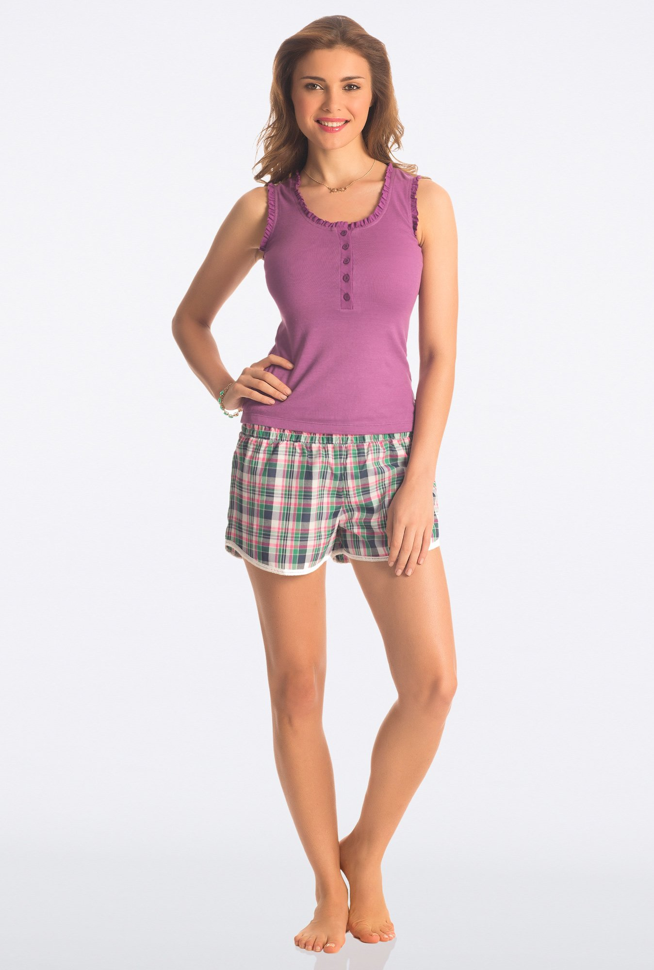 PrettySecrets Multicolor Flirty Checks Shorts