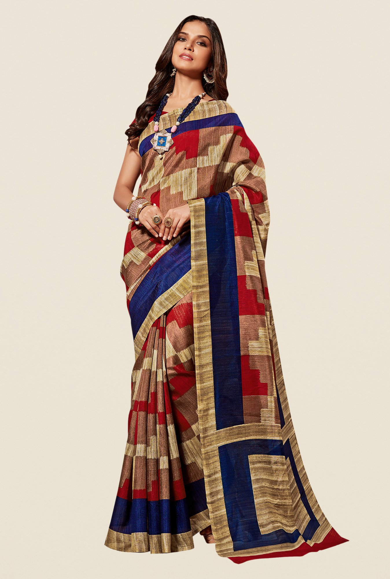 Shonaya Multicolor Cotton Silk Free Size Saree