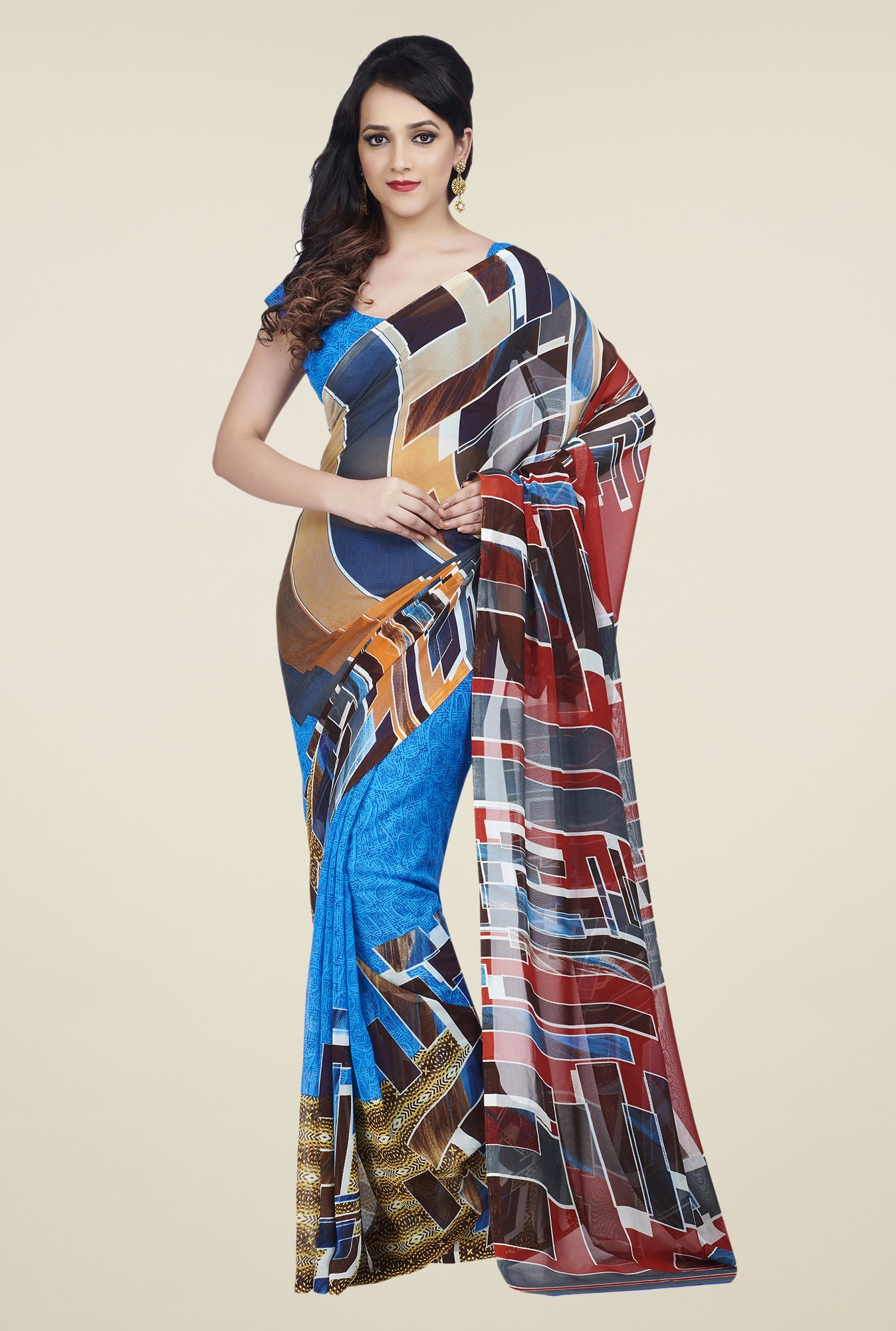 Shonaya Multicolor Dani Printed Saree