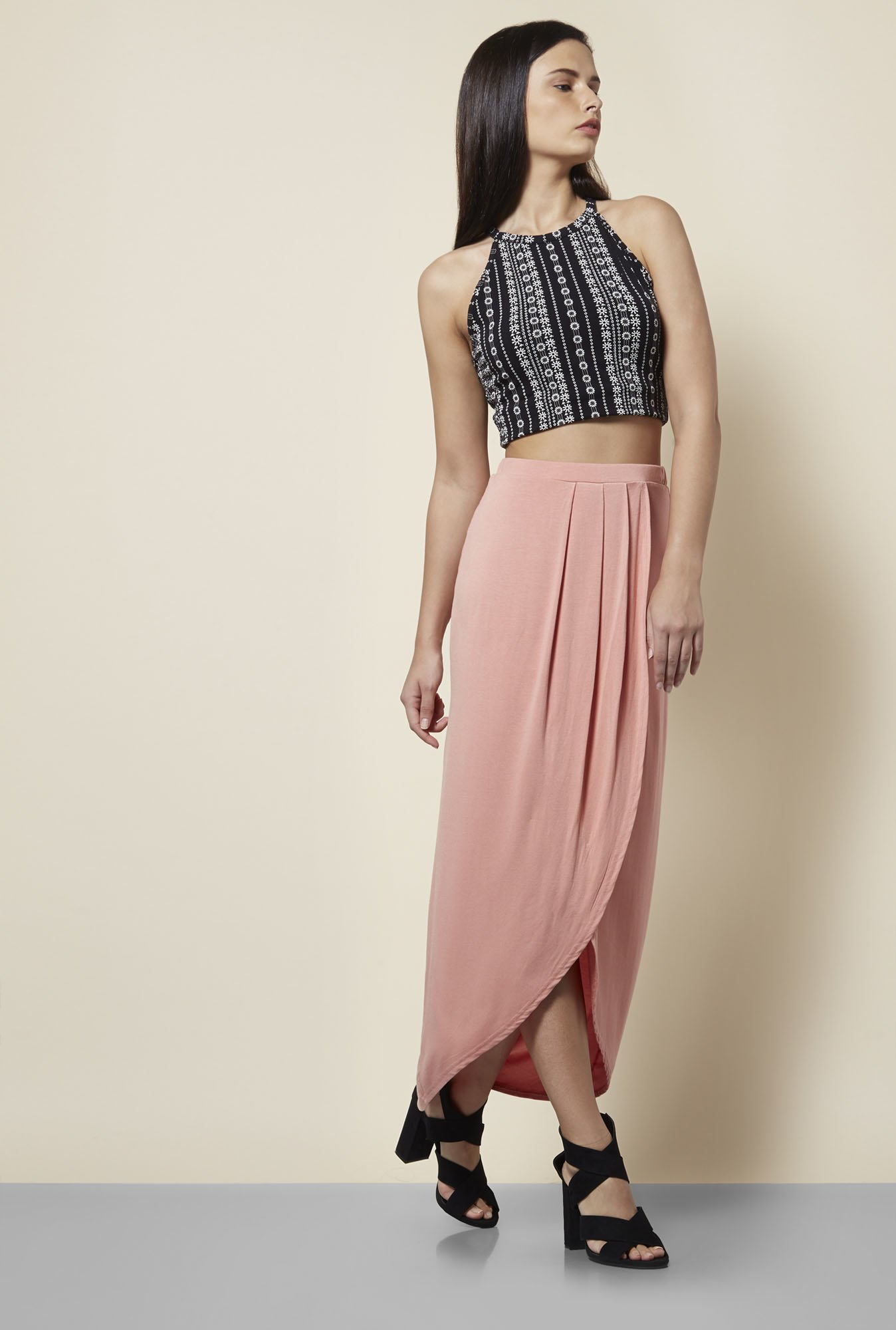 New Look Peach Skirt