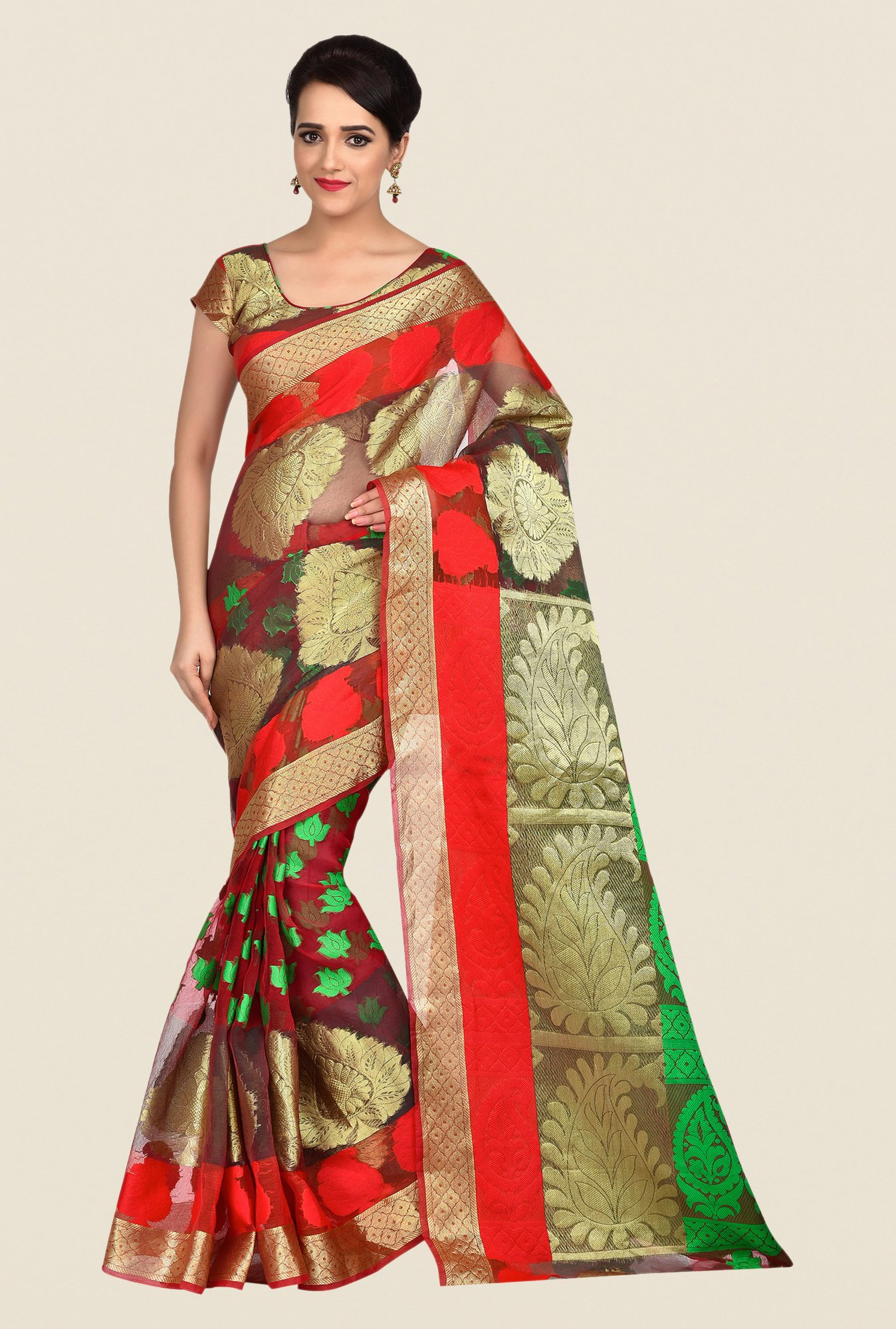 Shonaya Multicolor Banarasi Art Silk Printed Saree