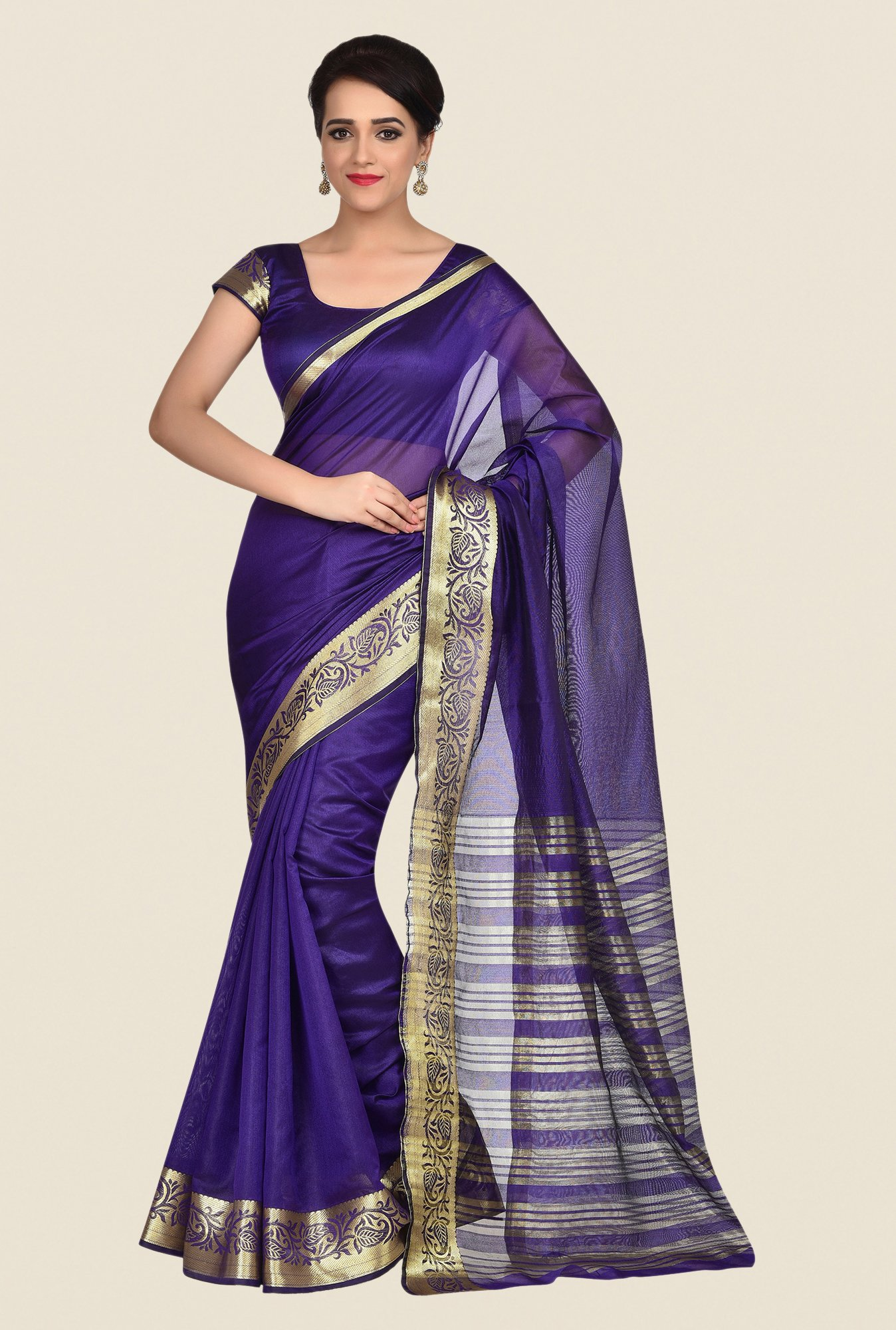 Shonaya Blue Banarasi Art Silk Saree